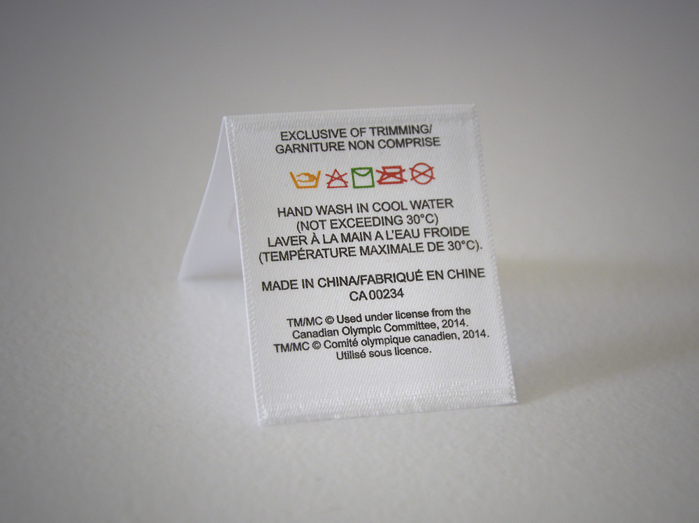 Printed label